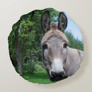 Coussins Ronds Beau portrait d'âne