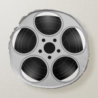 COUSSINS RONDS BOBINE DE FILM NOIRE ET BLANCHE