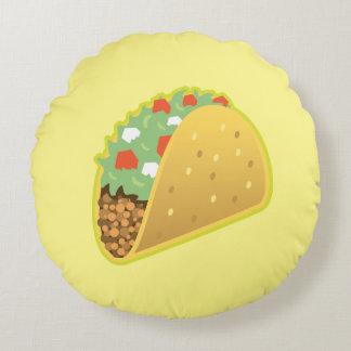 Coussins Ronds Carreau rond d'Emoji de taco