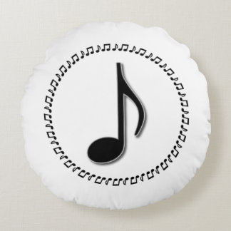 Coussins Ronds Conception de musique de huitième note