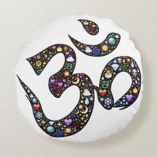 Coussins Ronds Emojis drôles mignons de symbole de yoga de
