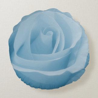 Coussins Ronds Fleur de rose de bleu