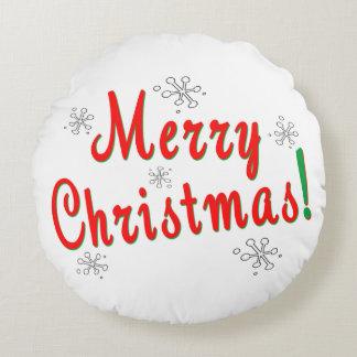 Coussins Ronds Flocons de neige de Joyeux Noël
