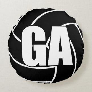 Coussins Ronds Joueurs de net-ball - attaque de but - GA