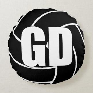 Coussins Ronds Joueurs de net-ball - la défense de but - GD