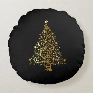 Coussins Ronds L'arbre de Joyeux Noël tient le premier rôle chic