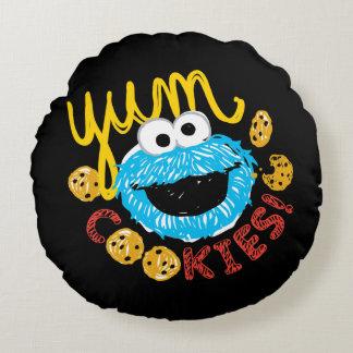 Coussins Ronds Monstre de biscuit Yum