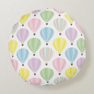 Coussins Ronds Motif en pastel chaud de ballon à air