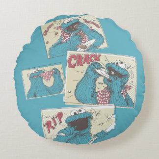 Coussins Ronds Panneaux comiques de MonsterVintage de biscuit