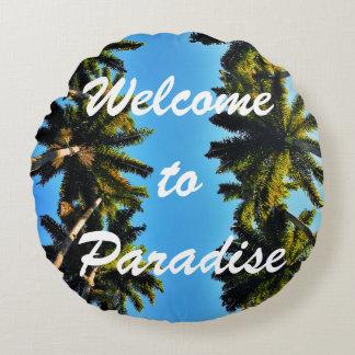 Coussins Ronds Photo tropicale d'été de plage de paradis de