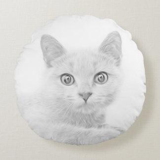 Coussins Ronds Photographie MIGNONNE SUPERBE de portrait de Kitty