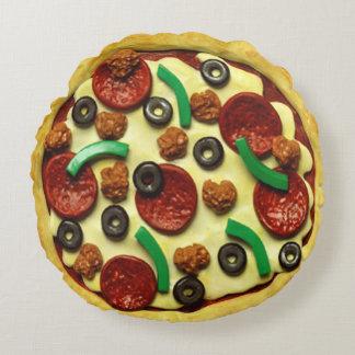 Coussins Ronds Pièce de fête d'anniversaire de pizza d'enfants