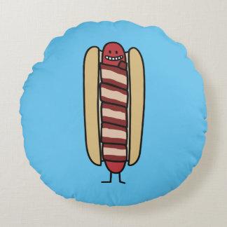 Coussins Ronds Saucisse de hot dog enveloppée par lard de hot-dog