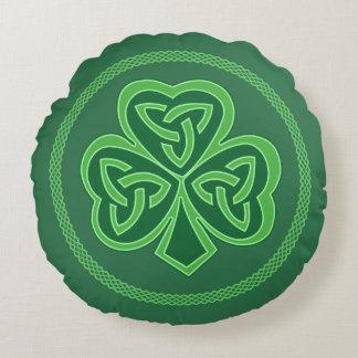 Coussins Ronds Shamrock celtique de noeud