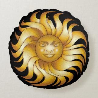 Coussins Ronds Sun de sourire audacieux sur #1 noir