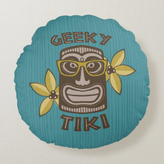 Coussins Ronds Tiki Geeky