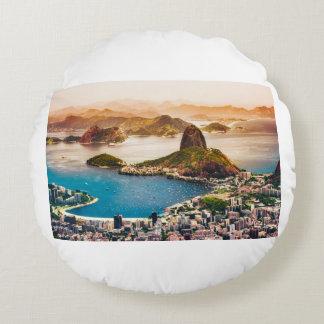 Coussins Ronds Vue de paysage urbain de Rio de Janeiro