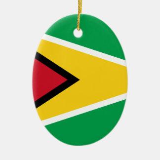 Coût bas ! Drapeau de la Guyane Ornement Ovale En Céramique