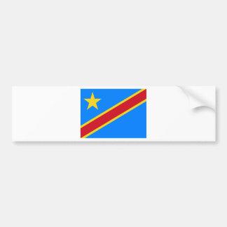 Coût bas ! Drapeau du Congo Autocollant De Voiture