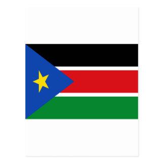 Coût bas ! Drapeau du sud du Soudan Carte Postale