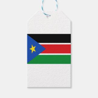 Coût bas ! Drapeau du sud du Soudan Étiquettes-cadeau