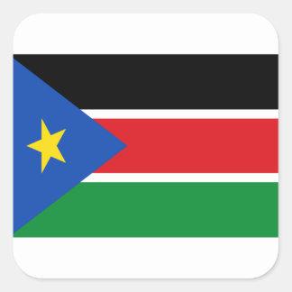 Coût bas ! Drapeau du sud du Soudan Sticker Carré
