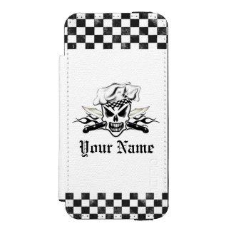 Couteaux flamboyants 2 de chef d'ADN de crâne de Coque-portefeuille iPhone 5 Incipio Watson™