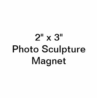 """Coutume 2"""" x 3"""" aimant de sculpture en photo magnet photo sculpture"""