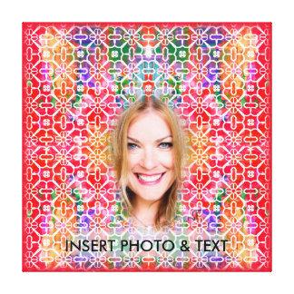 Coutume colorée florale PhotoText de toile de la