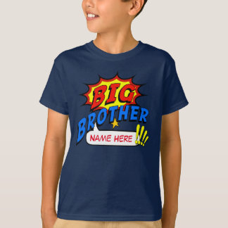 Coutume de super héros de frère t-shirt