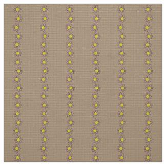 Coutume florale de jaune de brun de tissu de