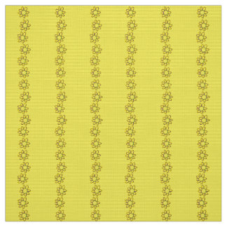 Coutume florale de jaune de tissu de polyester
