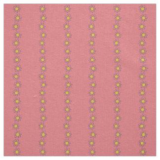 Coutume florale de tissu de jaune de toile de rose