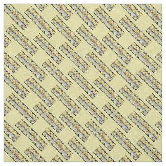 Coutume jaune bleue de tissu de toile