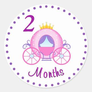 Coutume mensuelle d'autocollant de bébé sticker rond