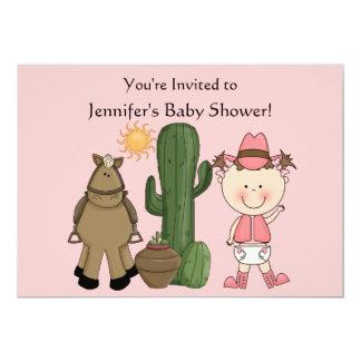 Coutume mignonne de poney de bébé et de cheval carton d'invitation  12,7 cm x 17,78 cm