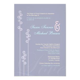 : : coutume : Rose trémière et mariage bilingue Cartons D'invitation