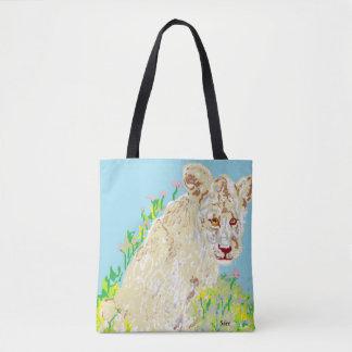 Coutume tout plus de - imprimez le lion d'Africain Tote Bag