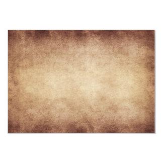 Coutume vintage d'arrière - plan de papier carton d'invitation 8,89 cm x 12,70 cm