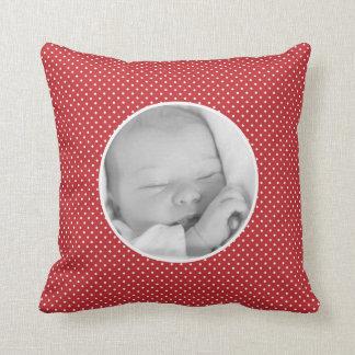 Coutume votre carreau de pois de photo de bébé coussins carrés
