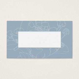 Couvert floral de table de mariage (bleu de cartes de visite
