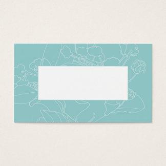 Couvert floral de table de mariage (vert d'océan) cartes de visite