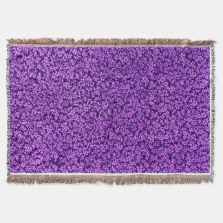 Couverture Afghan pourpre d'améthyste violette florale