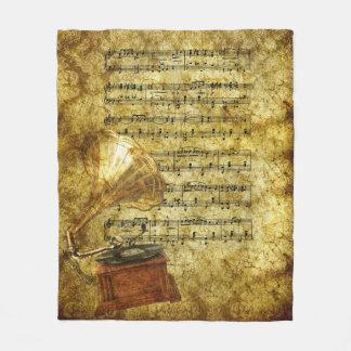 Couverture antique de phonographe et d'ouatine de