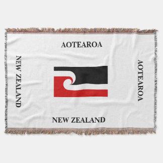 Couverture AOTEAROA/jet maori de drapeau de Nouvelle Zélande