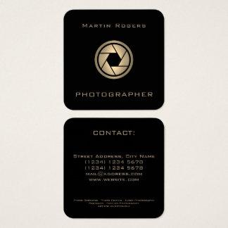 Couverture artistique d'objectif de caméra de carte de visite carré