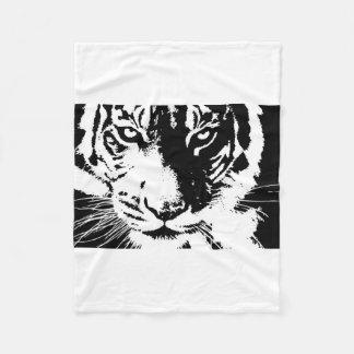 Couverture avec le tigre noir et blanc