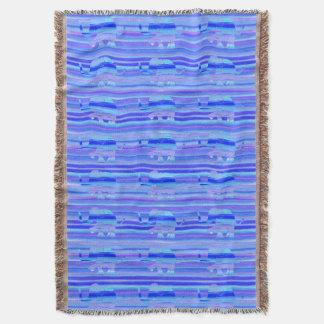 Couverture Bleu, pourpre et motif d'éléphant de turquoise