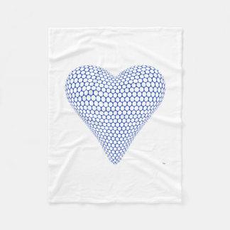 Couverture bleue de coeur