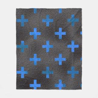 Couverture bleue de motif de croix de chrome